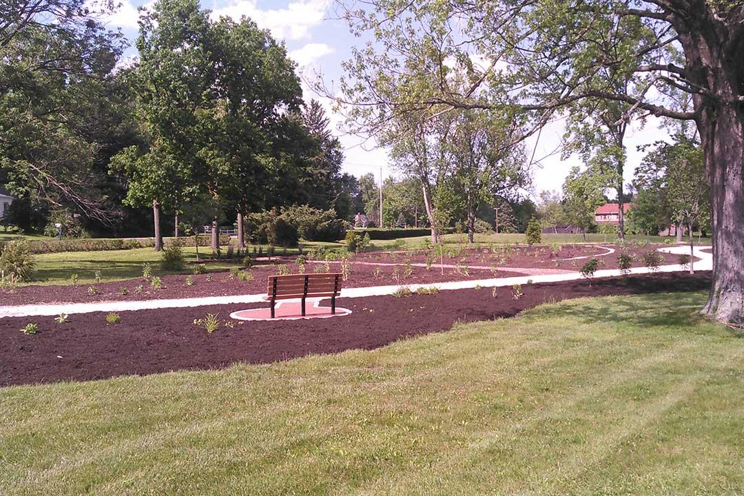Celebration Garden with Bench