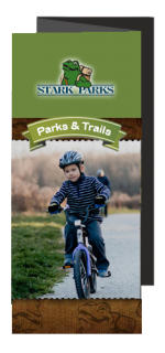Boy biking on trail