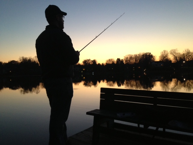 Fishing at Sunset at Sippo Lake