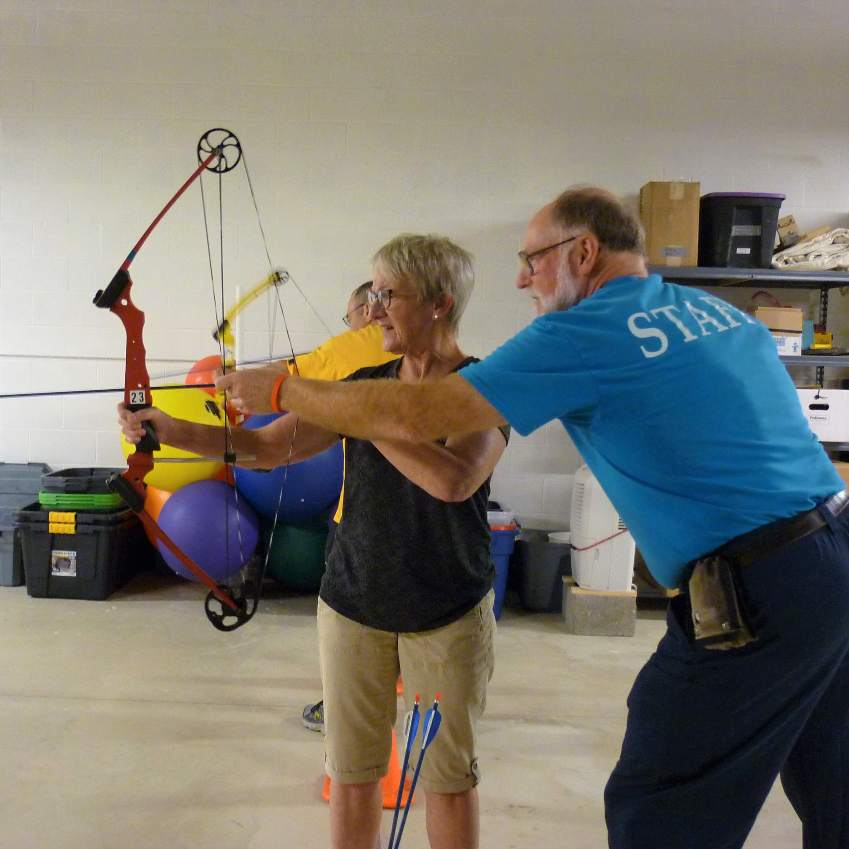60+ archery participant and instructor