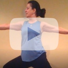 Yoga Pose with Play Button