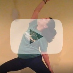 Yoga Pose with Video Play Button