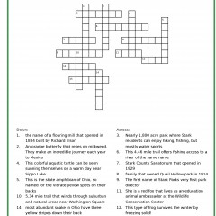 Crossword grid with questions