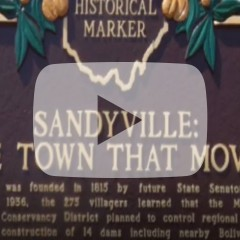 Sandyville the town that moved historical marker