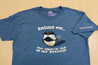 Bird on front of T-shirt