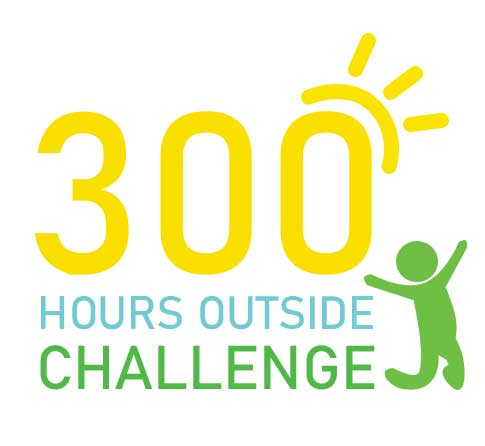 300 Hours Challenge Logo with Leaping Figure