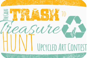 2021 Trash to Treasure logo with text and recycle symbol