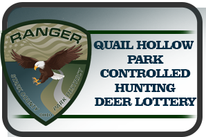 Ranger logo with eagle and Quail Hollow Controlled Hunting Deer Lottery text