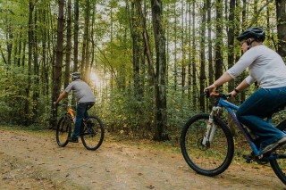 Two Bikers on Mahoning Valley Trail