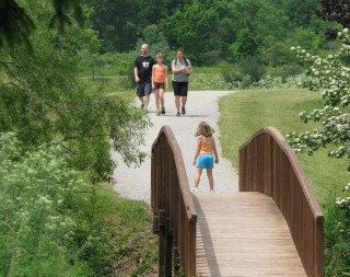 Walkers at Petros Lake Park