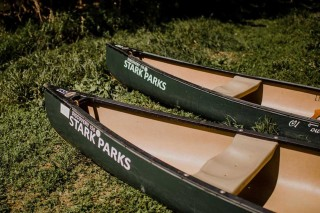 Two Canoes on shore