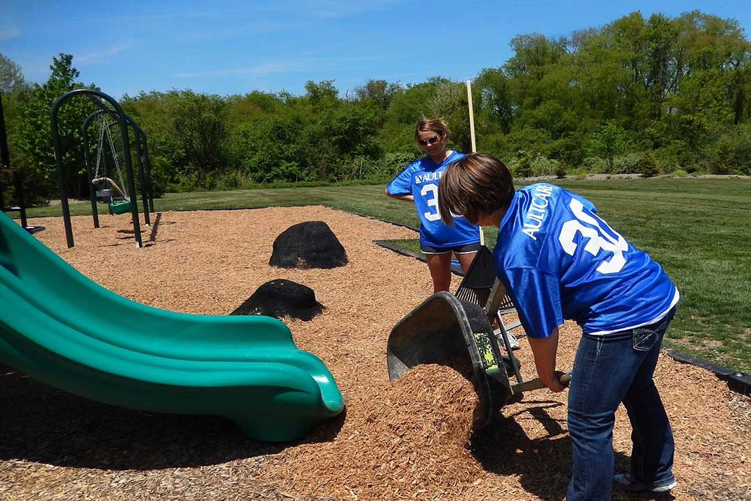 Mulching Playground at Stark Parks