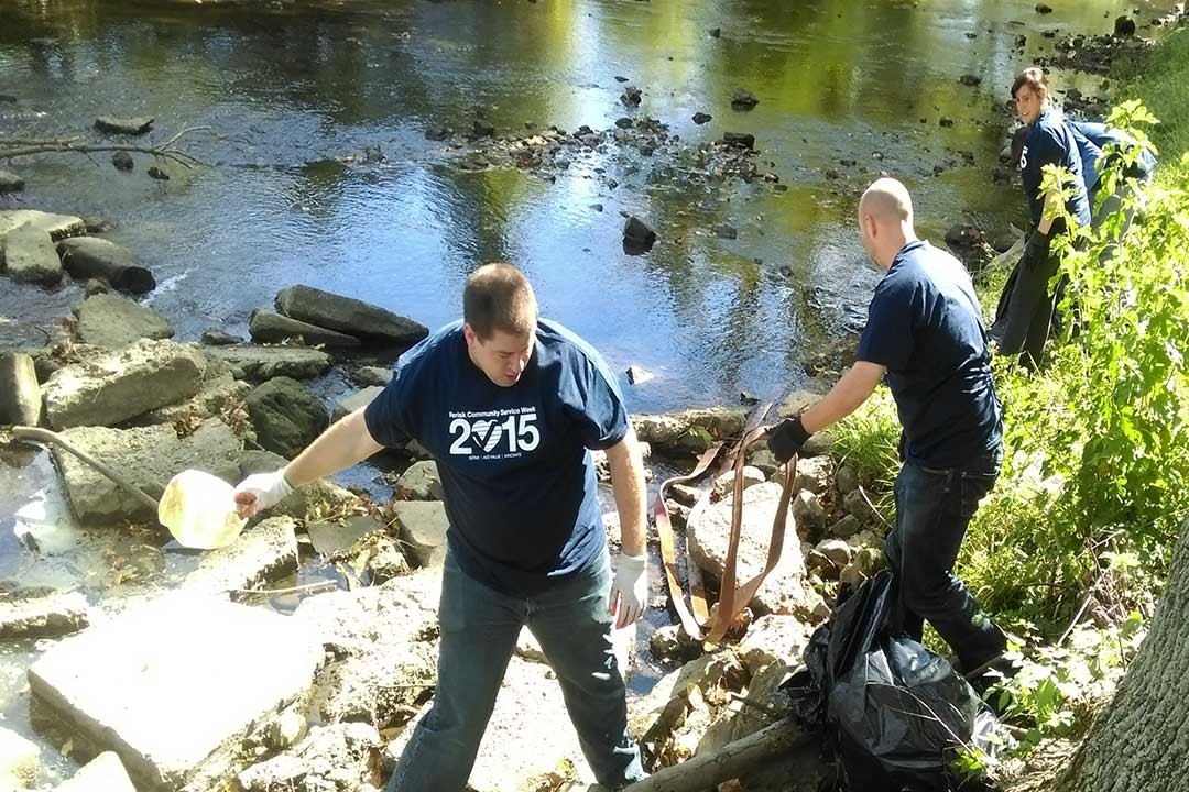 Volunteers Cleaning a Creek