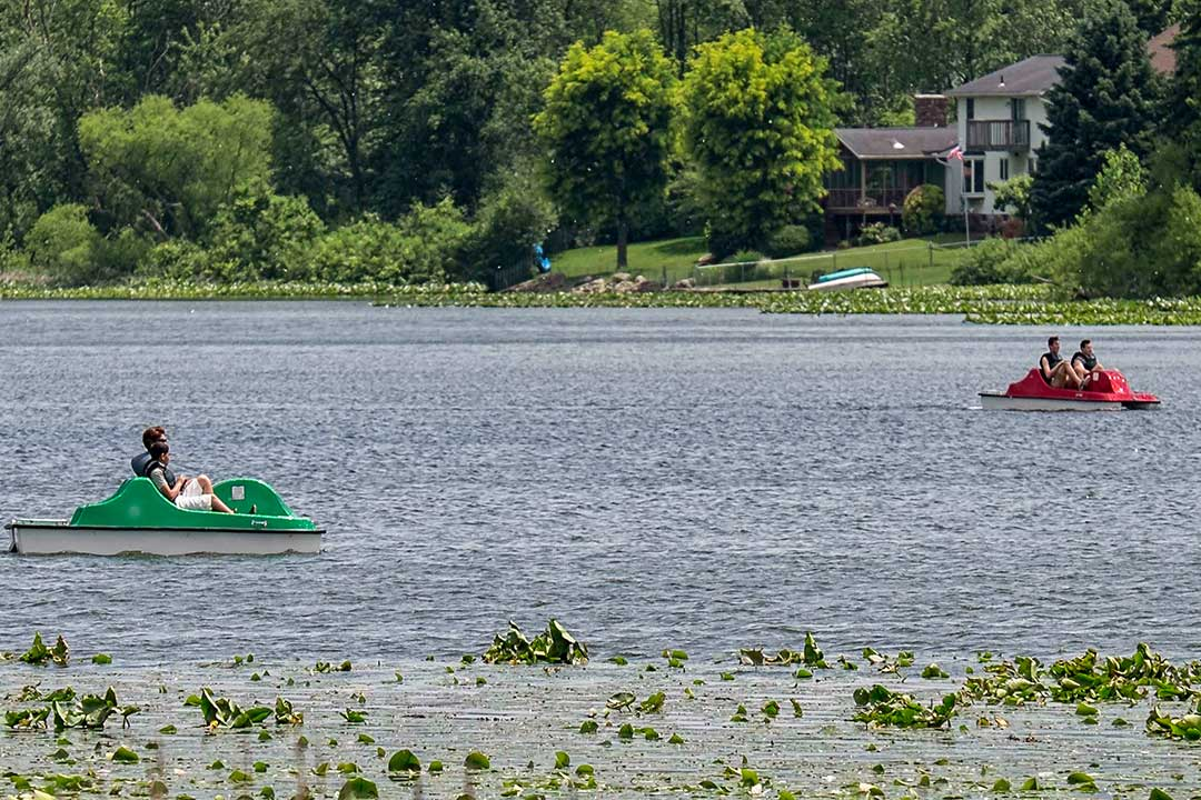 Two Pedal Boats on Sippo Lake