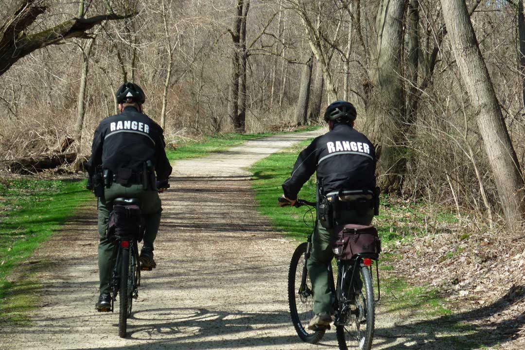 Two Rangers on Bike Patrol