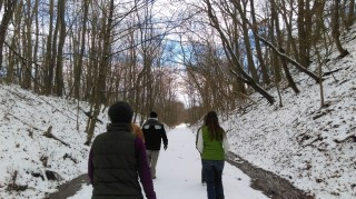 Hikers on the Sandy Valley Trail