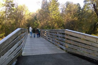 Wooden bridge on Sippo Valley Trail