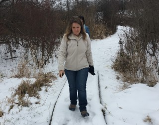 Snowy hike at Fichtner