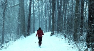 Runner in the Snow