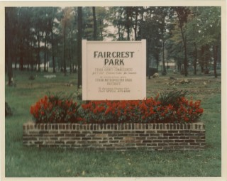 Faircrest Park Sign