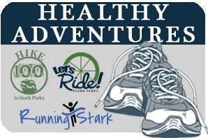 Healthy Adventures Logo Hiking, Biking, Running
